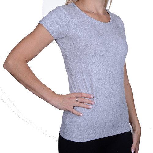16eaf2189694 T-shirt Damski Koszulka Moraj BD900-420 grey gładka
