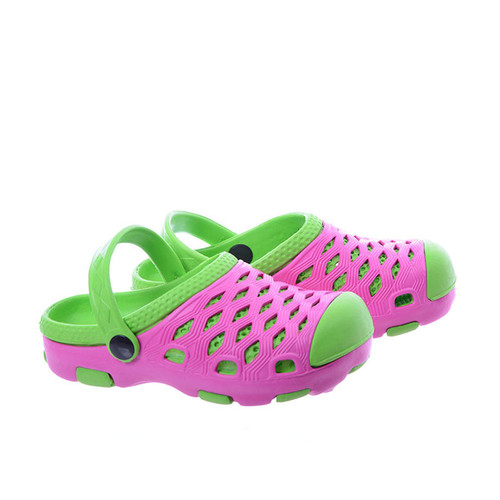 efc6773b Croksy kroksy dziewczęce Klapki EVA tanie SLD-07 różowo zielone