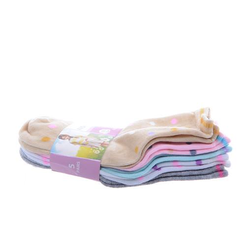 430da6b5e82851 ... Skarpetki dziecięce dziewczęce kropki groszki kolorowe 5 par Tanie 3.