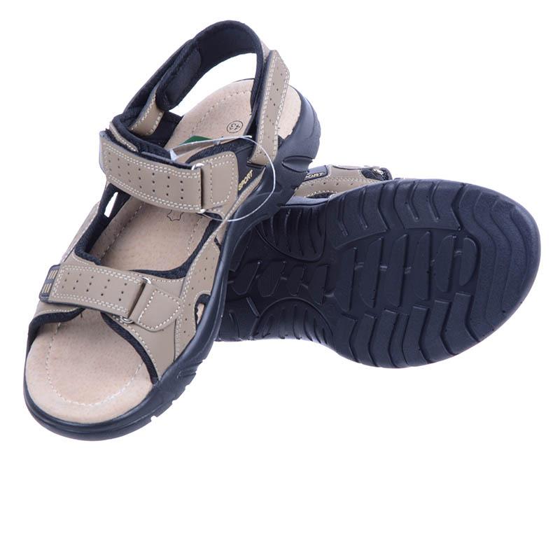 f8337d6d8f6fe1 Sandały męskie beżowe A8700/A7279 Linshi na rzepy: tanie, modne ...