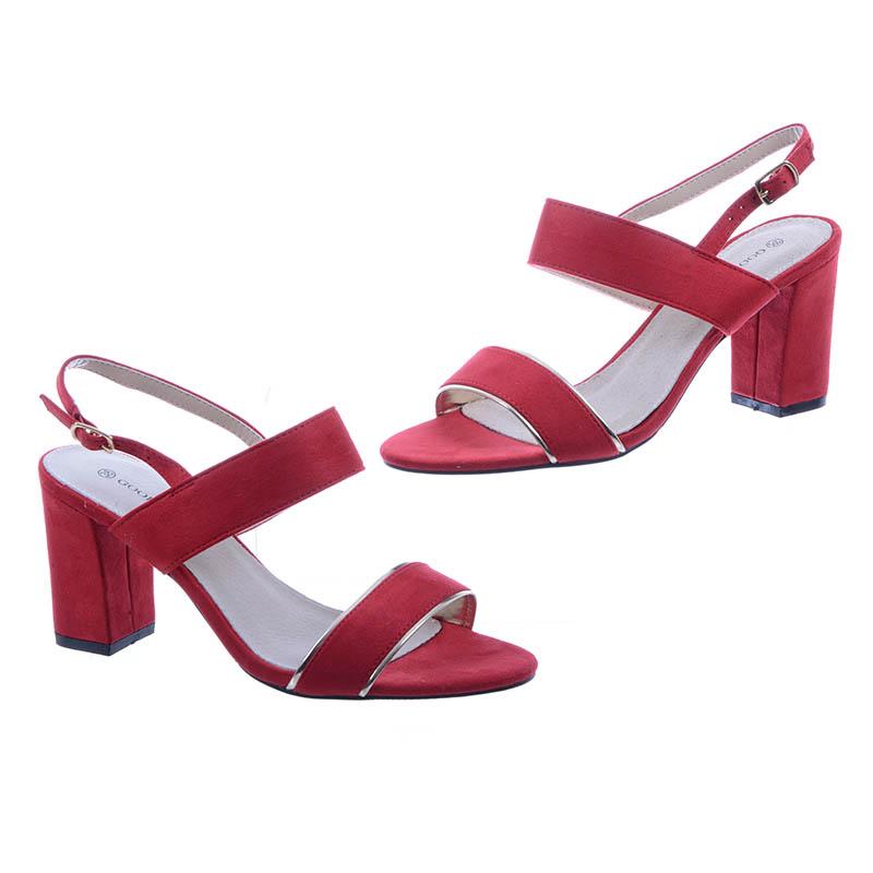 Goodin Czerwone Sandałki | Sandały, Buty i Stylizacje