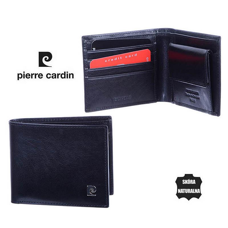 7a0a98c893620 Portfel męski Pierre Cardin poziomy średni YS507 8824 Czarny.jpg ...