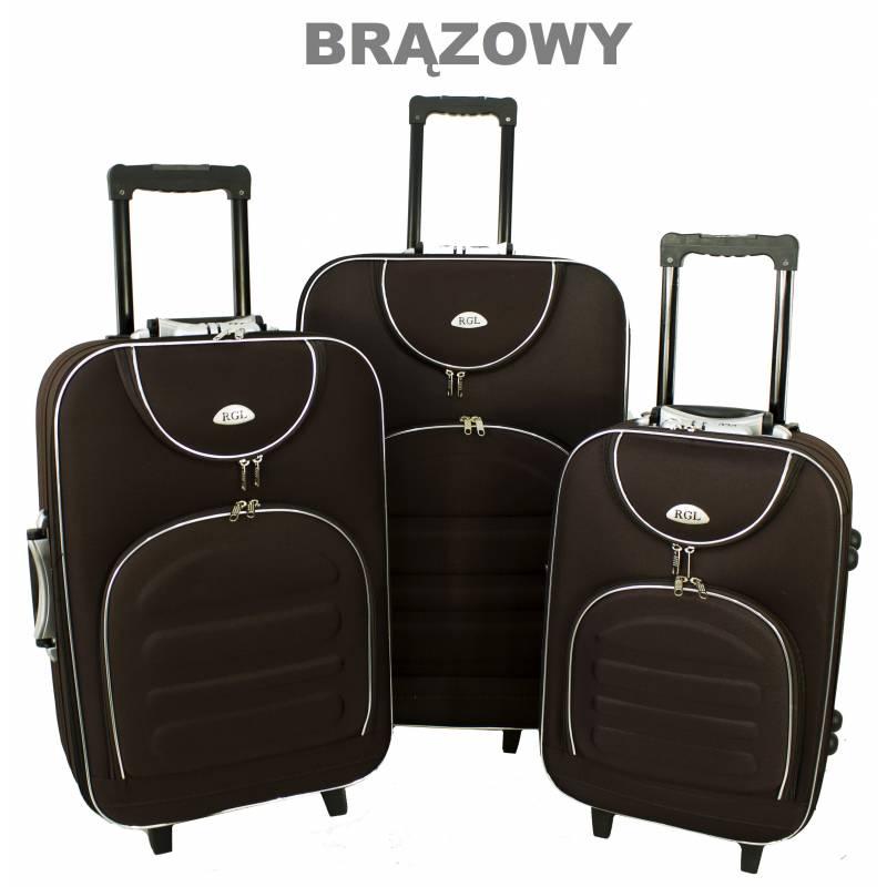 e62e3a290897f Zestaw komplet walizek podróżnych 801 RGL 3w1 na kółkach: tanie ...