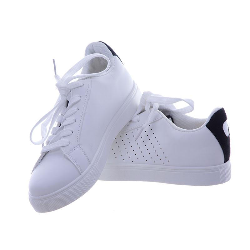 Stylowe Buty sportowe trampki Damskie WB807 białe