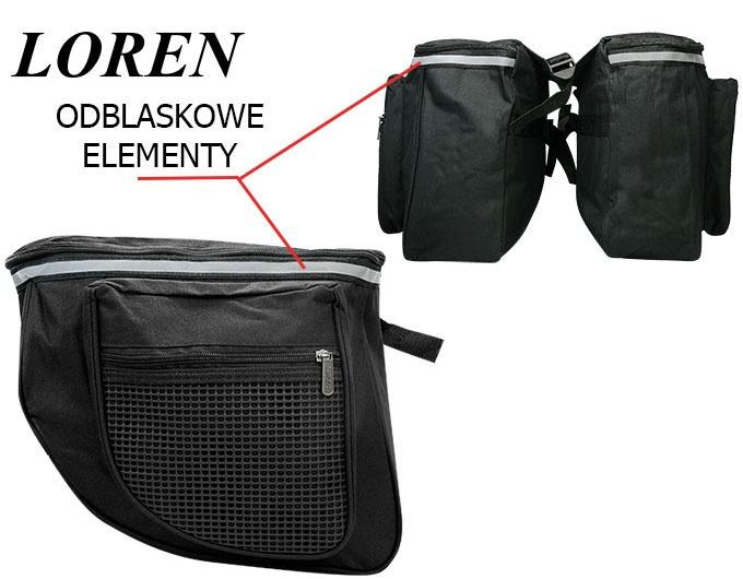 88e6deb97e9d3 Torba sakwa rowerowa na bagażnik LOREN TR-T-201 czarna: tanie, modne ...