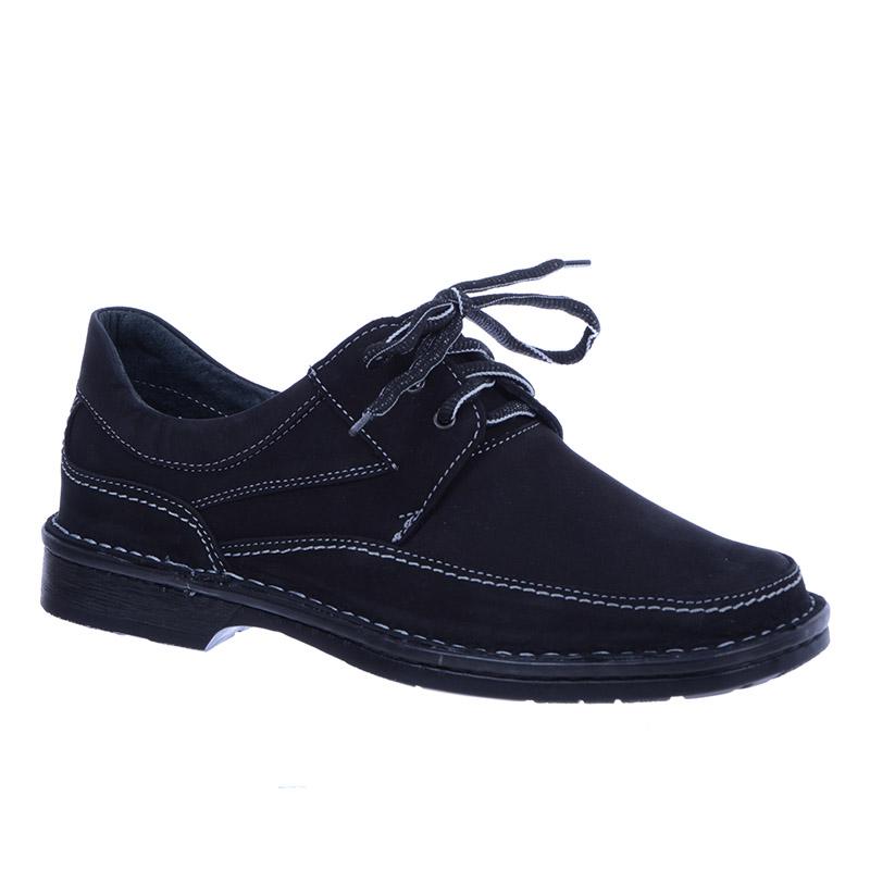 buty męskie nubuk czarne