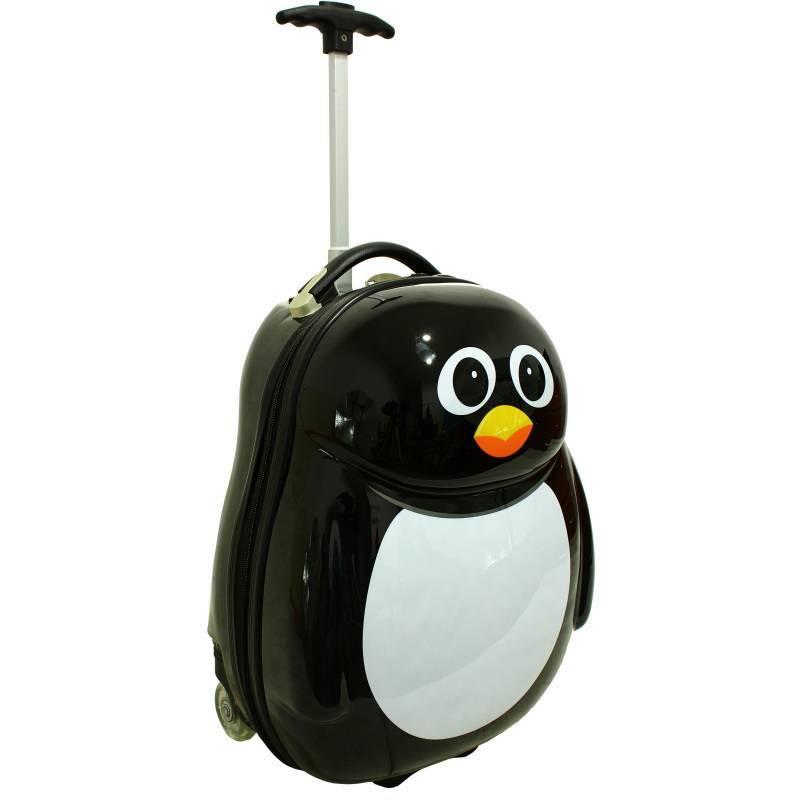 59c164edaf73a Walizka dla dzieci podręczna pingwin dziecięca kabinowa: tanie ...