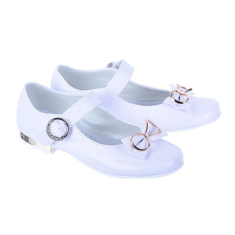 d896272bad Obuwie Baleriny do Komunii dla Dziewczynki Miko 813 Białe  tanie ...
