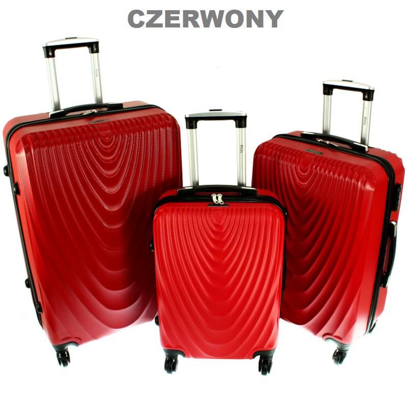 eea20b92913c6 Komplet Walizek na 4 kółkach Zestaw 3w1 663 Torba Podróżna: tanie ...